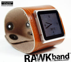 RAWKband leather watchband for iPod nano in color Yerma