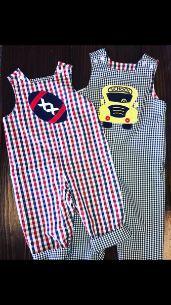 The Football Collection Boys Reversible John John Long 2in1 Outfit (3T left)
