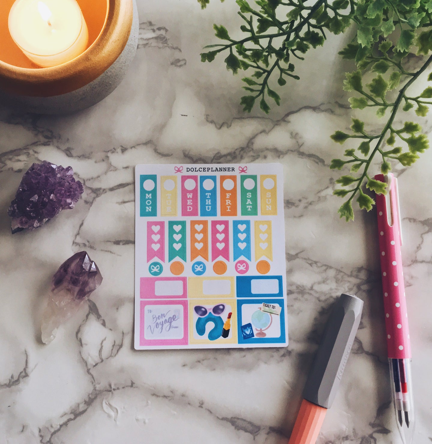 Travel Hobonichi Weeks Mini Kit Planner Stickers