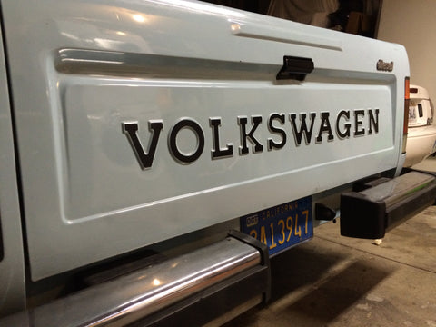 VW Rabbit Pickup Tail Gate Lettering; Restoration Quality!
