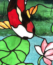 Koi Fish Stained Glass by Seasons
