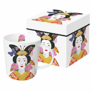 "Gift Boxed Porcelain Mug - ""Madame Butterfly"" by PAPAYA Art"