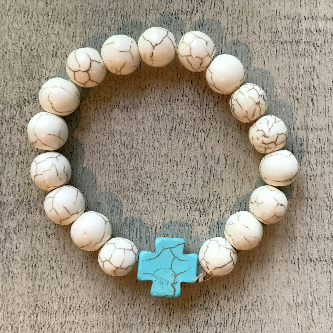Bella Bracelet - Turquoise Charm by Heart on Your Sleeve