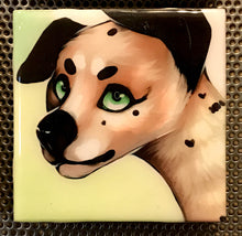 """Dalmatian Puppy"" Tile Coaster/Magnet by Chigri"