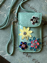 Micro Bag - Turquoise with Flowers