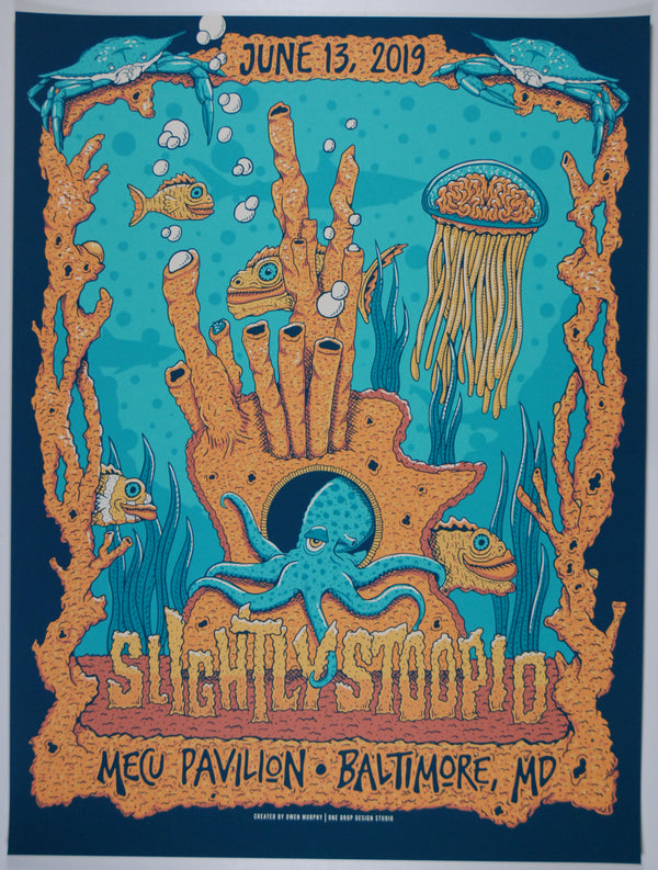 Slightly Stoopid Baltimore June 13, 2019. White Wash Artist Proof