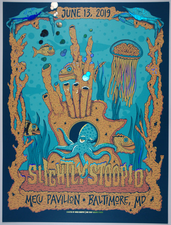 Slightly Stoopid Baltimore June 13, 2019. Rainbow Mirror Foil