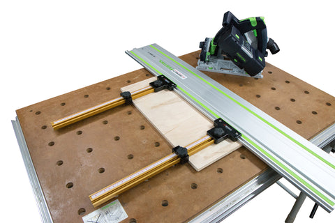 Parallel Guide System for Festool and Makita Track Saw Guide Rail (With Incra T-Track)
