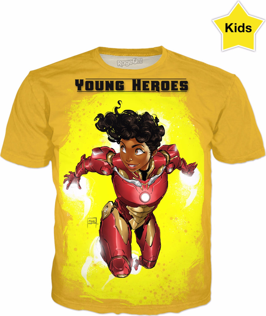 Young Heroes: Unlimited (Limited Edition Kids Shirts)- IronHeart (Riri Williams)