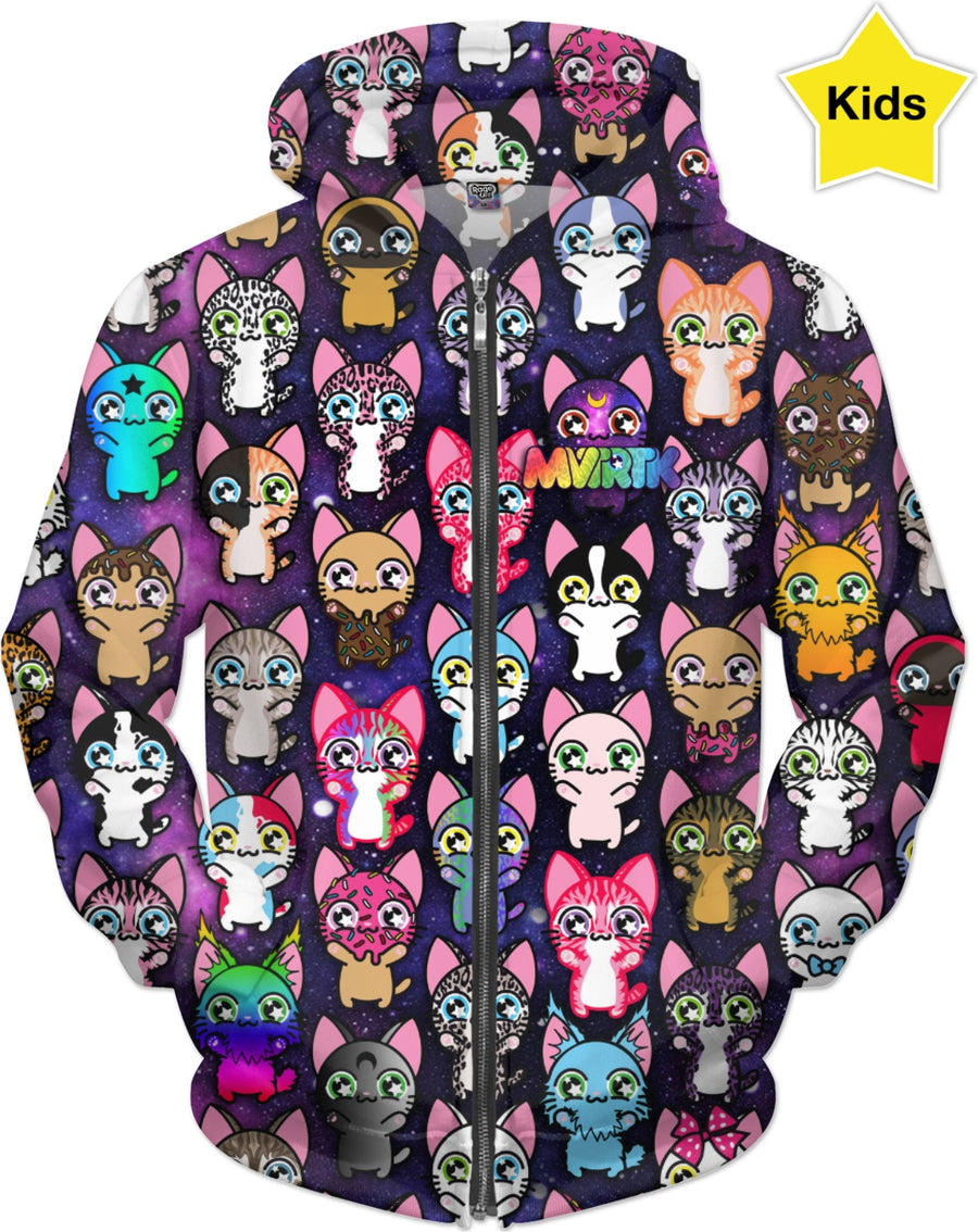 MVTRTK SPACE KITTY Kids Sweatshirt