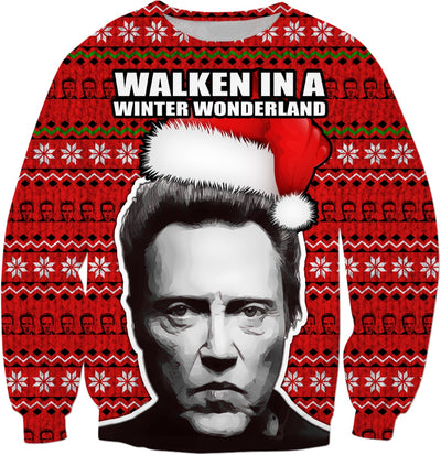 """Walken in a Winter Wonderland"" Christopher Walken Christmas Sweater"