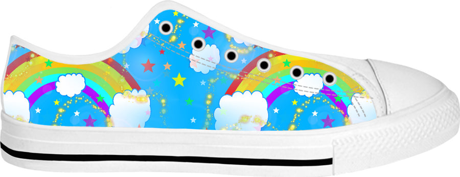 Somewhere Over The Rainbow White Low Tops
