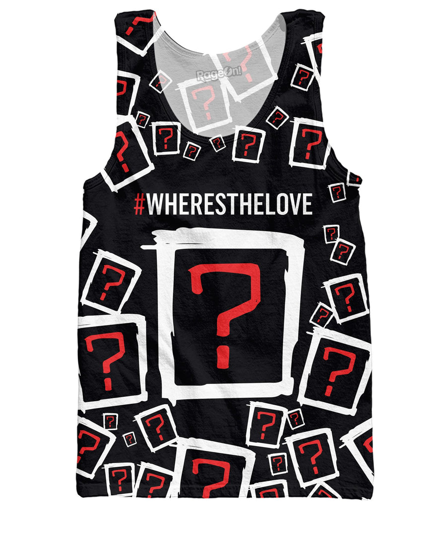 Where's the Love Collage Tank Top