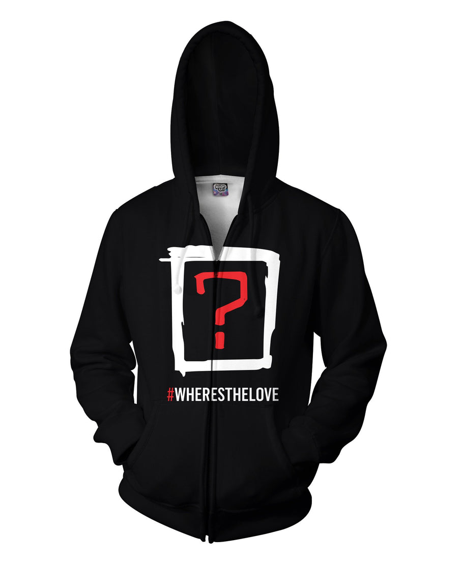 Where's the Love Double Sided Hoodie