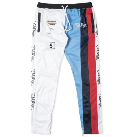 Club Foreign NYC M5 Stripes TrackPants - White