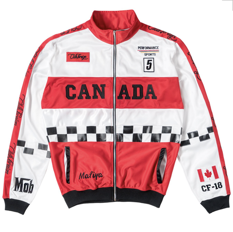 Club Foreign NYC Canada Mafiya Jacket - White/Red