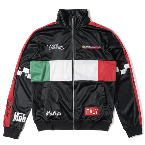 Club Foreign NYC Italy Mafiya Jacket - Black/Red/Green