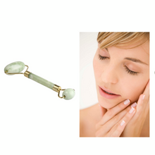 Load image into Gallery viewer, Real Jade Roller Massage Relaxation Facial Smoothing Anti Wrinkle