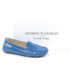 Andrew Charles Womens Loafer Blue MAX