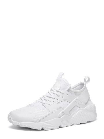 Men Lace-up Front Mesh Panel Trainers