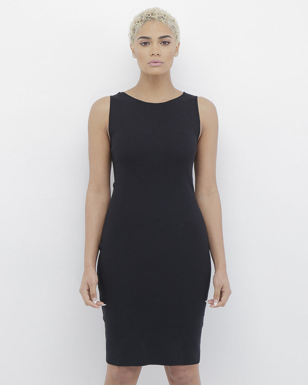 SHE'S IN CHARGE Bodycon Dress in Black at FLYJANE | Black Bodycon Dress with Elastic Band at Back | Endless Rose Bodycon Dress | Follow us on Instagram @FlyJane