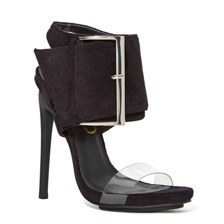 REVOLUTION Buckled HEEL by Privileged in Black at FLYJANE
