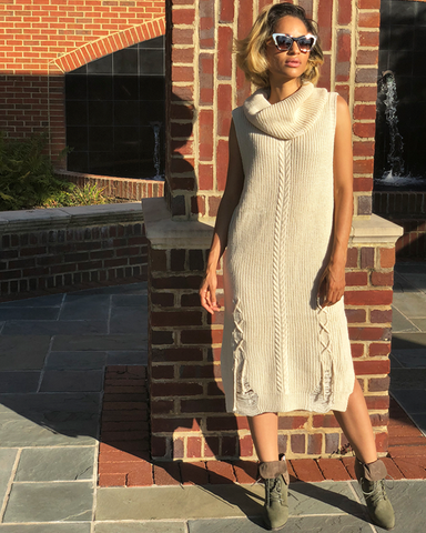 GOOD KARMA Sweater Dress  at FLYJANE | Fall Fashion 2018 | Comfy Sweater Dresses for Work Wear | Dinner Date Outfits | Cute Looks for Fall Fashion | Follow us on Instagram at @FlyJane