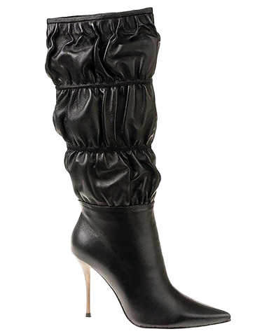 BRONX BUNNY Cinched Leather Knee Boot at FLYJANE | Bronx H83003 Knee Boot in Black Leather | Genuine Leather Boot under $100 | Shop New Boots at ShopFlyJane.com