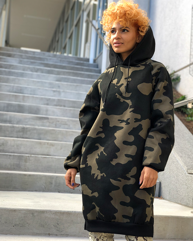 SAY IT LOUD Camo Oversized Hoodie | FLYJANE | Camouflage Oversized Hoodie Dress | Shop Winter Fashion at ShopFlyJane.com