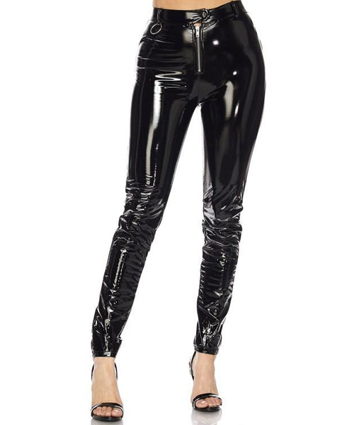 OH YEAH! Latex Stretch Pants at FLYJANE | Cute Black Latex Stretch Pants | Cute Trendy Pants with Classic Flavor at ShopFlyJane.com