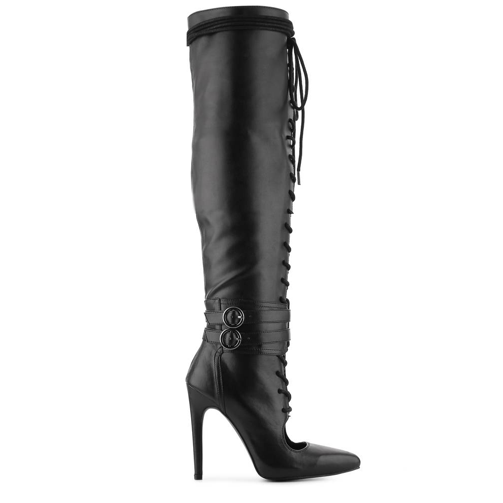 OBSESSION Lace Up Knee Boot  at FLYJANE