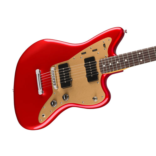Squier Deluxe Jazzmaster Stoptail Electric Guitar, Candy Apple Red