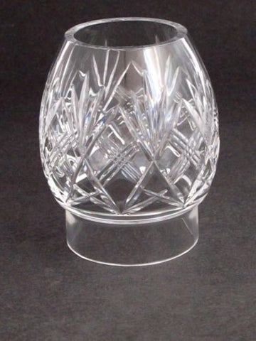 Hand Cut Glass lamp shade globe - O'Rourke crystal awards & gifts abp cut glass
