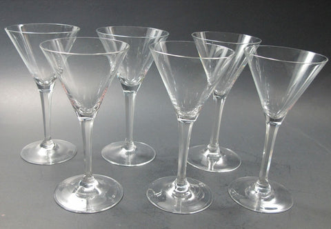 Cut stem cocktail glass  6 piece - O'Rourke crystal awards & gifts abp cut glass