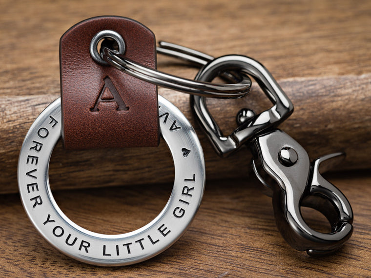 Father's Day Keychain Gift for dad thanking him for being a great father