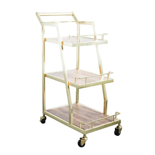 3-Tier Metal Bar Cart