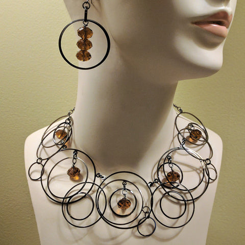 Loopy Hematite Necklace by Barbara Cieslicki