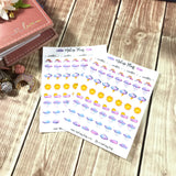 Weather Icons Sticker Sheet