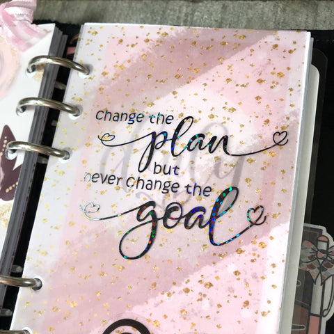 """Change the plan, but never change the goal"" Vinyl Decal"
