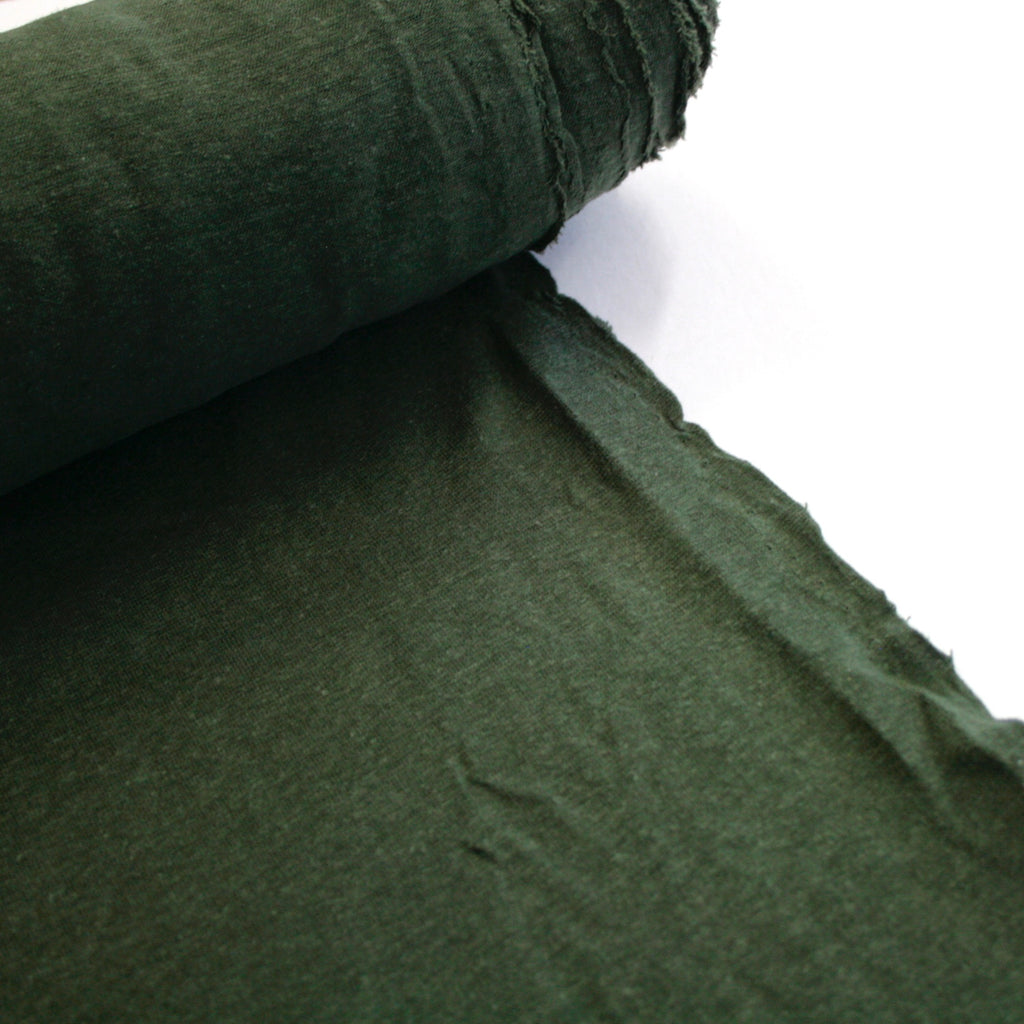 Hemp & Organic Cotton Jersey - Lightweight - Forest