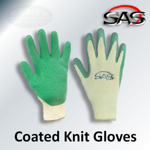 Latex Coated Cotton/Poly Knit Gloves