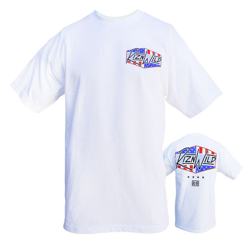 RIZNWILD | Men's Standard Tee Red, White and Blue american outdoors