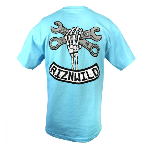 Wrench Twist Mens Standard Tee in Pacific Blue