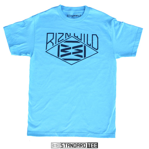 RIZNWILD | men's outdoor nature tee in pacific blue