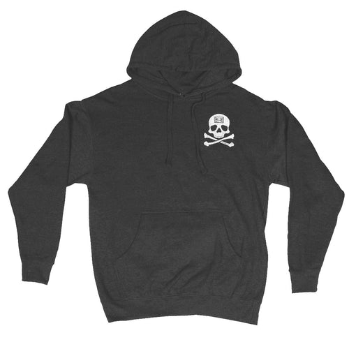 RIZNWILD | Men's hoodie skull and cross bones design.