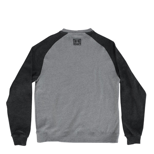 RIZNWILD | Crewneck men's sweatshirt no hood back of sweatshirt