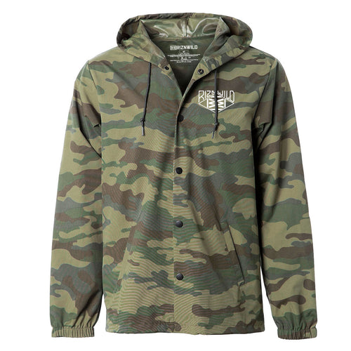 RIZNWILD | Windbreaker Jacket button up camo