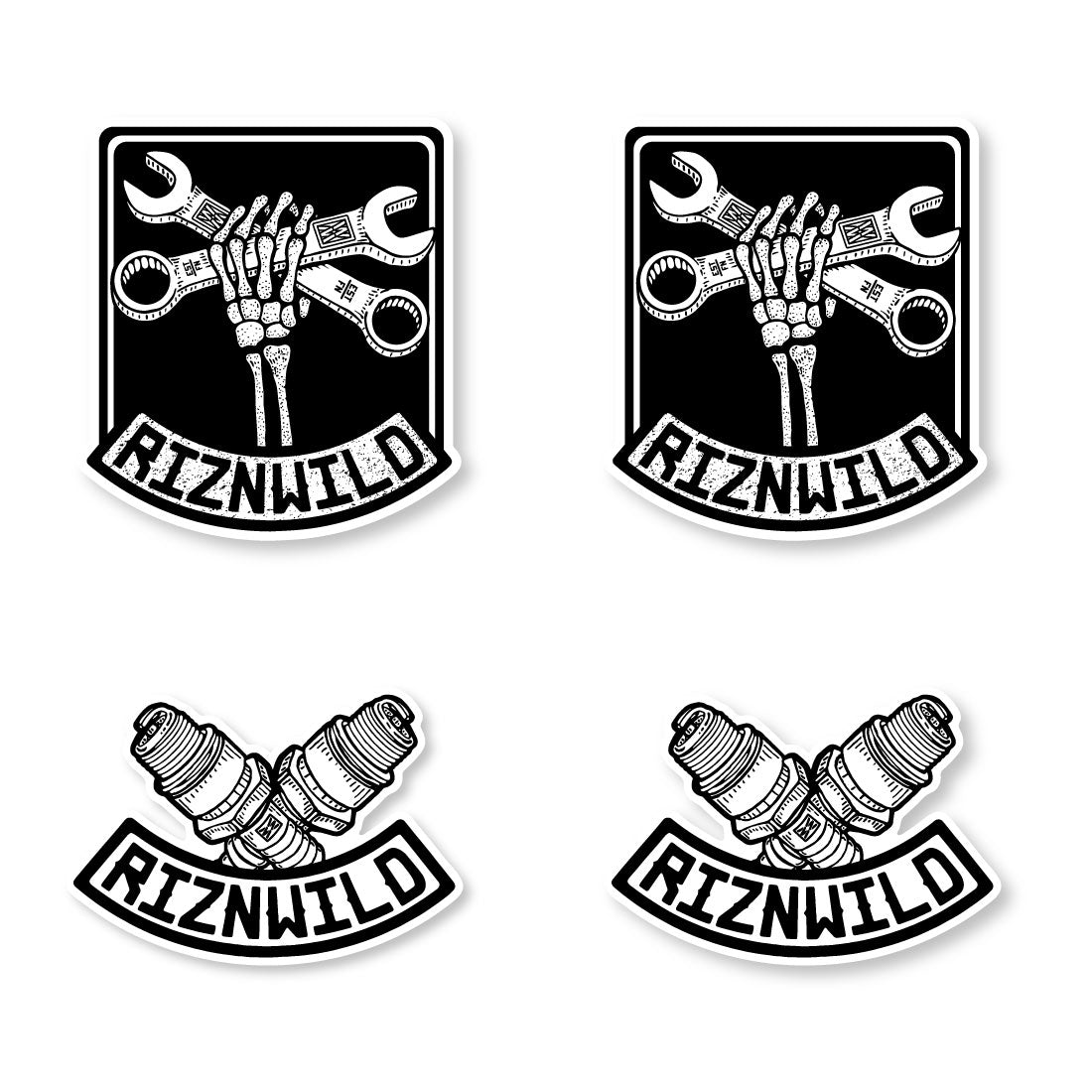 Wrench Party Sticker 4-Pack