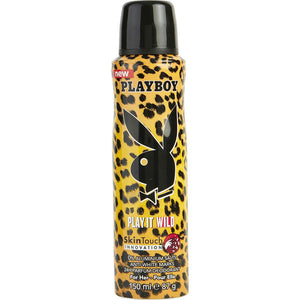 Playboy Play It Wild By Playboy Skin Touch Body Deodorant Spray 5 Oz