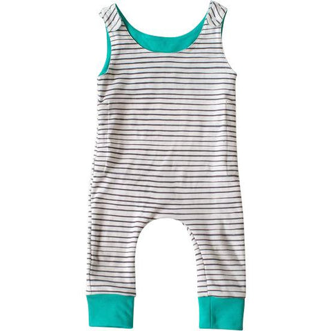 Stripe Grow Romper